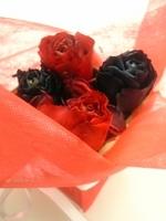 赤と色のバラのアレンジ:プリザーブドフラワー花大学